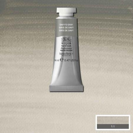 WINSOR&NEWTON AQUARELLE 14ML S1 217 GRIS DE DAVY