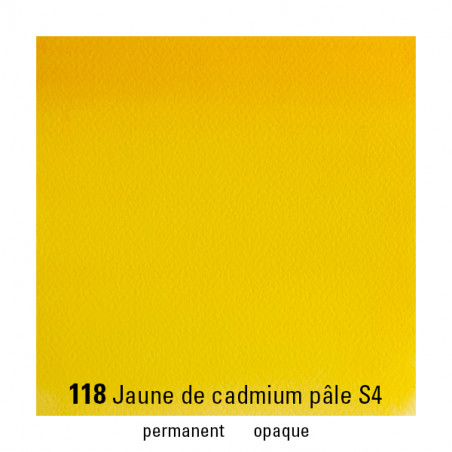 WINSOR&NEWTON AQUARELLE 14ML S4 118 JAUNE CADMIUM PALE