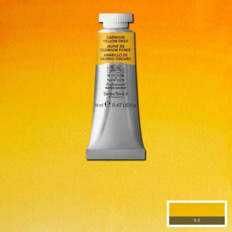 WINSOR&NEWTON AQUARELLE 14ML S4 111 JAUNE CADMIUM FONCE