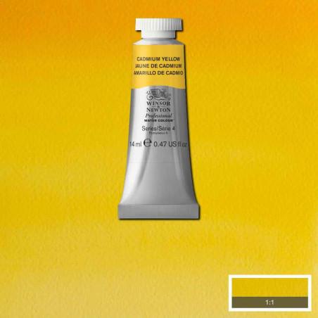 WINSOR&NEWTON AQUARELLE 14ML S4 108 JAUNE DE CADMIUM