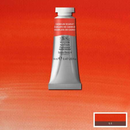 WINSOR&NEWTON AQUARELLE 14ML S4 106 ECARLATE CADMIUM