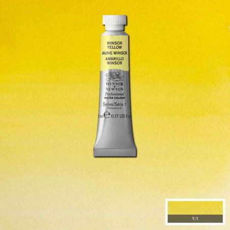 WINSOR&NEWTON AQUARELLE 5ML S1 730 WINSOR JAUNE