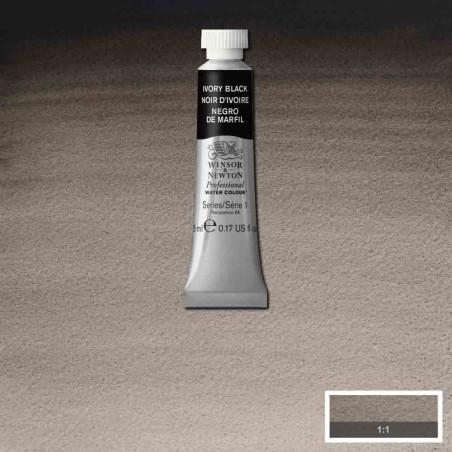 WINSOR&NEWTON AQUARELLE 5ML S1 331 NOIR IVOIRE