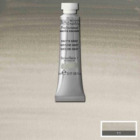 WINSOR&NEWTON AQUARELLE 5ML S1 217 GRIS DE DAVY