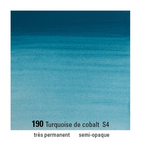 WINSOR&NEWTON AQUARELLE 5ML S4 190 TURQUOISE COBALT