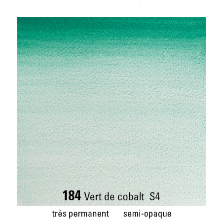 WINSOR&NEWTON AQUARELLE 5ML S4 184 VERT DE COBALT