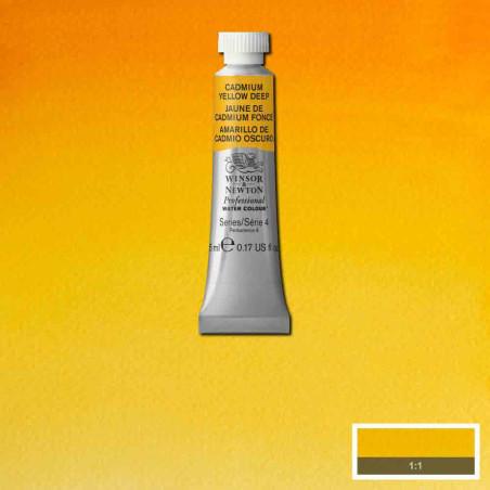 WINSOR&NEWTON AQUARELLE 5ML S4 111 JAUNE CADMIUM FONCE