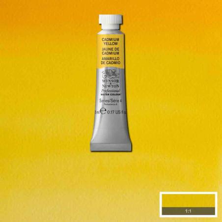 WINSOR&NEWTON AQUARELLE 5ML S4 108 JAUNE DE CADMIUM