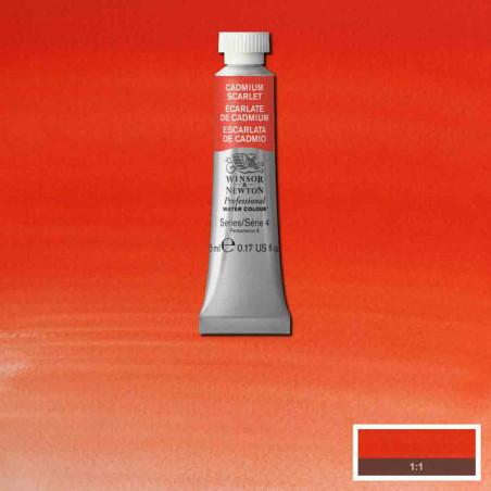 WINSOR&NEWTON AQUARELLE 5ML S4 106 ECARLATE CADMIUM