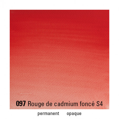 WINSOR&NEWTON AQUARELLE 5ML S4 097 ROUGE CADMIUM FONCE