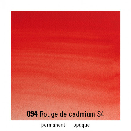 WINSOR&NEWTON AQUARELLE 5ML S4 094 ROUGE CADMIUM