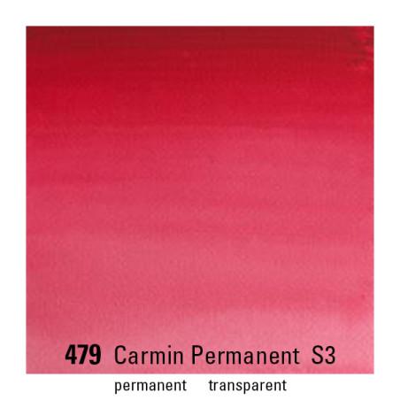 WINSOR&NEWTON AQUARELLE GODET S3 479 CARMIN PERM.