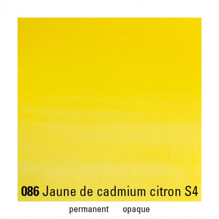 WINSOR&NEWTON AQUARELLE 5ML S4 086 JAUNE CADMIUM CITRON