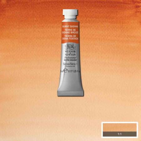 WINSOR&NEWTON AQUARELLE 5ML S1 074 TERRE SIENNE BRULEE