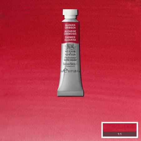 WINSOR&NEWTON AQUARELLE 5ML S1 004 ALIZARINE CRAMOISIE