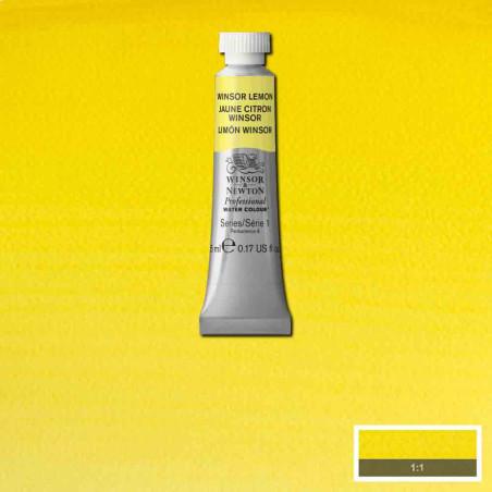 WINSOR&NEWTON AQUARELLE 5ML S1 722 JAUNE CITRON WINSOR