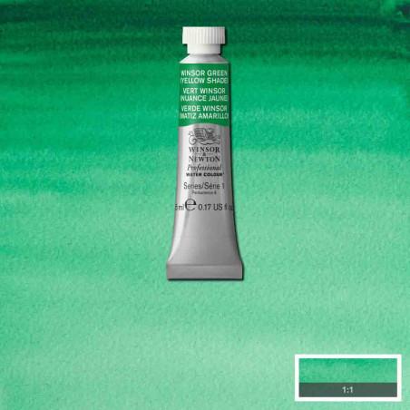 WINSOR&NEWTON AQUARELLE 5ML S1 721 VERT WINSOR NUANCE JAUNE