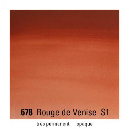 WINSOR&NEWTON AQUARELLE GODET S1 678 ROUGE VENISE / A EFFACER -------