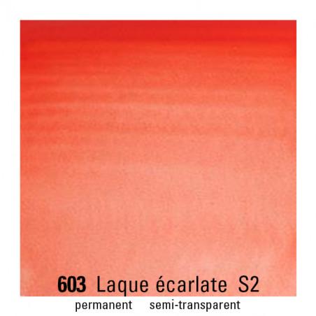 WINSOR&NEWTON AQUARELLE GODET S2 603 LAQUE ECARLATE / A EFFACER