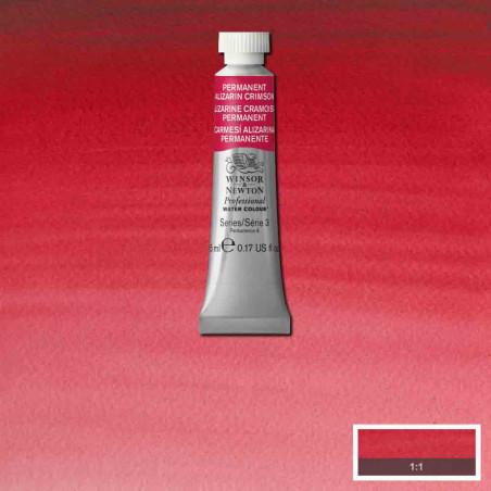 WINSOR&NEWTON AQUARELLE 5ML S3 466 ALIZARINE CRAMOISIE PERM.