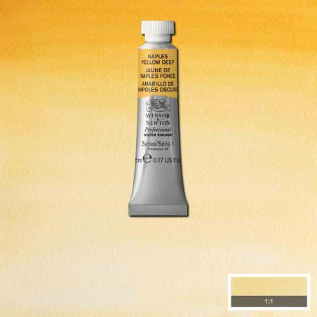 WINSOR&NEWTON AQUARELLE 5ML S1 425 JAUNE NAPLES FONCE