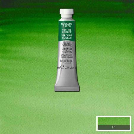 WINSOR&NEWTON AQUARELLE 5ML S1 311 VERT DE HOOKER