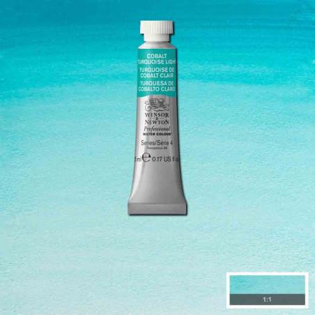 WINSOR&NEWTON AQUARELLE 5ML S4 191 COBALT TURQUOISE CLAIR