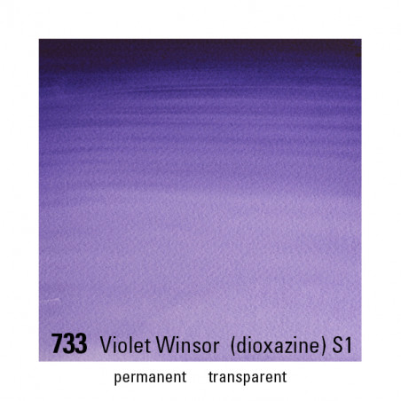 WINSOR&NEWTON AQUARELLE 14ML S1 733 WINSOR VIOLET