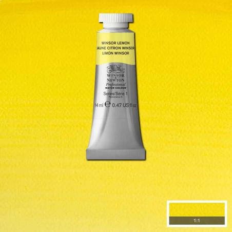 WINSOR&NEWTON AQUARELLE 14ML S1 722 JAUNE CITRON WINSOR