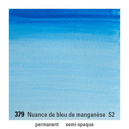 WINSOR&NEWTON AQUARELLE GODET S2 379 BLEU MANGANESE