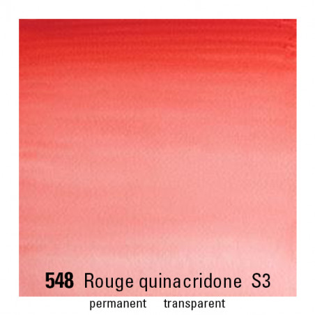 WINSOR&NEWTON AQUARELLE 14ML S3 548 ROUGE QUINACHRIDONE