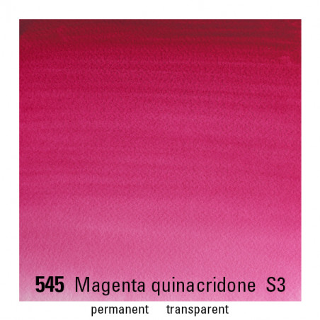 WINSOR&NEWTON AQUARELLE 14ML S3 545 MAGENTA QUINACRIDONE