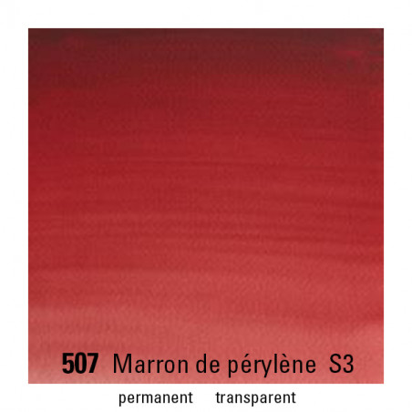 WINSOR&NEWTON AQUARELLE 14ML S3 507 MARRON DE PERYLENE