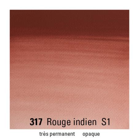 WINSOR&NEWTON AQUARELLE GODET S1 317 ROUGE INDIEN