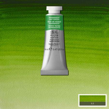 WINSOR&NEWTON AQUARELLE 14ML S1 503 VERT DE VESSIE PERM