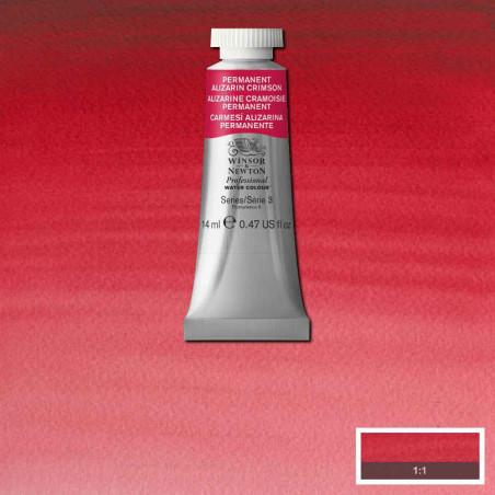 WINSOR&NEWTON AQUARELLE 14ML S3 466 ALIZARINE CRAMOISIE PERM.