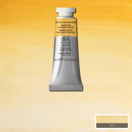 WINSOR&NEWTON AQUARELLE 14ML S1 425 JAUNE NAPLES FONCE