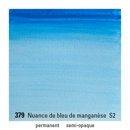 WINSOR&NEWTON AQUARELLE 14ML S2 379 NUANCE BLEU MANGANESE
