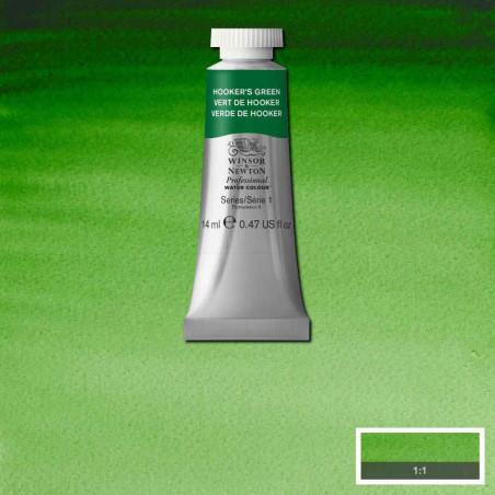 WINSOR&NEWTON AQUARELLE 14ML S1 311 VERT DE HOOKER
