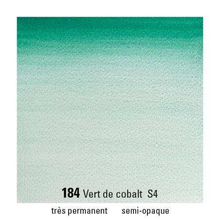 WINSOR&NEWTON AQUARELLE GODET S4 184 VERT COBALT