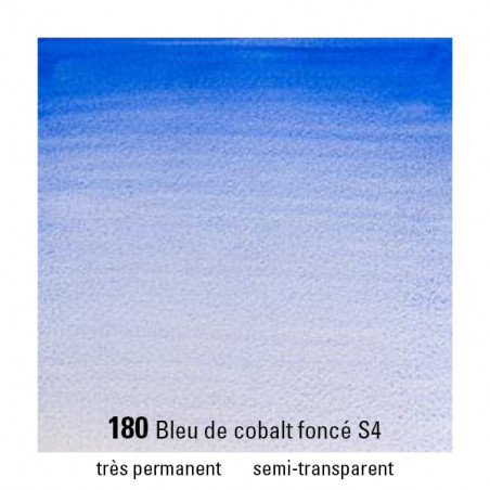 WINSOR&NEWTON AQUARELLE 14ML S4 180 BLEU COBALT FONCE
