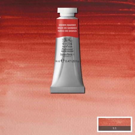 WINSOR&NEWTON AQUARELLE 14ML S1 056 GARANCE BRUNE