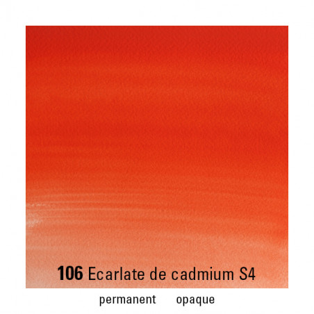 WINSOR&NEWTON AQUARELLE GODET S4 106 ESCARLET CADMIUM