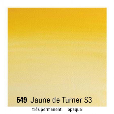 WINSOR&NEWTON AQUARELLE 14ML S3 649 JAUNE TURNER