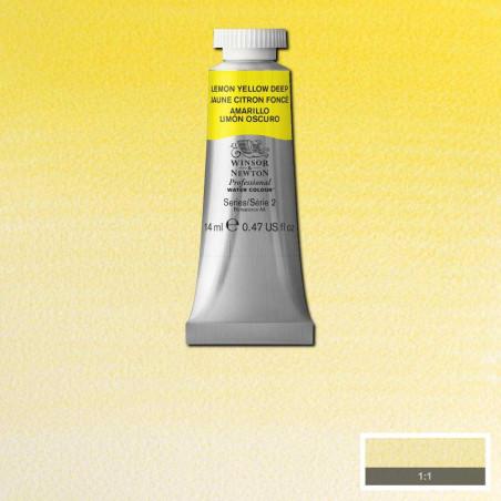 WINSOR&NEWTON AQUARELLE 14ML S2 348 JAUNE CITRON FONCE