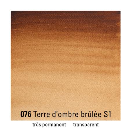 WINSOR&NEWTON AQUARELLE GODET S1 076 TERRE OMBRE BRULEE