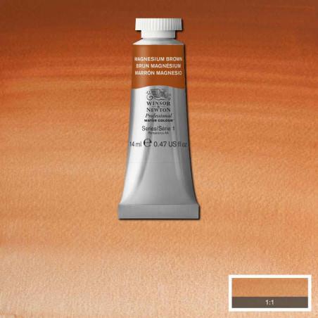 WINSOR&NEWTON AQUARELLE 14ML S1 381 BRUN MAGNESIUM