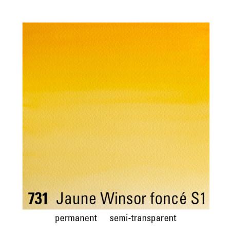 WINSOR&NEWTON AQUARELLE 1/2 GODET S1 731 JAUNE WINSOR FONCE