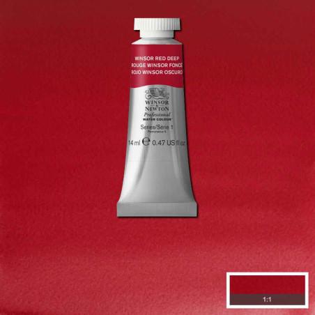 WINSOR&NEWTON AQUARELLE 14ML S1 725 ROUGE WINSOR FONCE