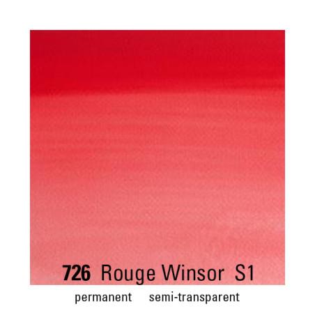 WINSOR&NEWTON AQUARELLE 1/2 GODET S1 726 ROUGE WINSOR